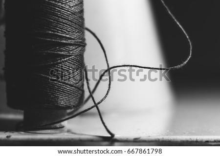 vintage sewing machine factory...