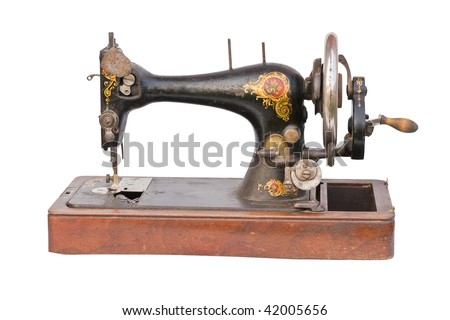 Vintage Sewing machine isolated over a white background