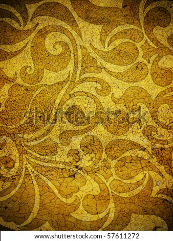 vintage shabby background with classic ornament