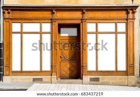 vintage shop windows and...