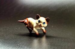 Vintage Siamese cat figurines , Adorable kitten porcelain