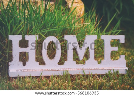 vintage sign with the word home ...