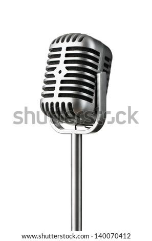 vintage silver microphone...