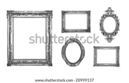 Vintage silver ornate frames, some chipped and rusty, similar available in my portfolio