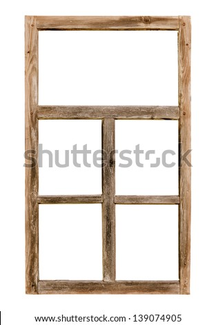 vintage simple window wooden...