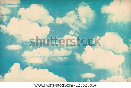 Vintage sky background