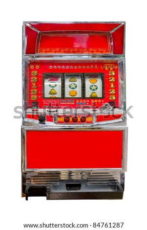 vintage slot machine isolated
