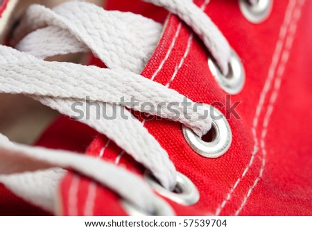 vintage sneaker closeup