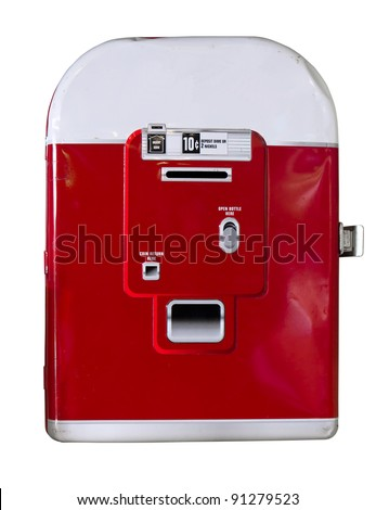 Vintage soda machine  isolate on white background - stock photo