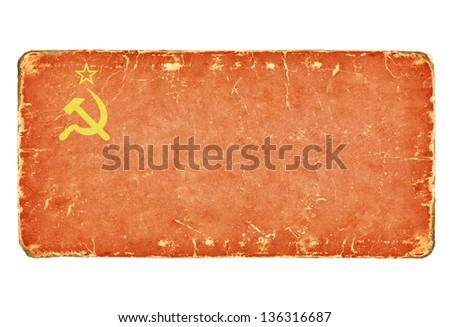 vintage soviet flag.