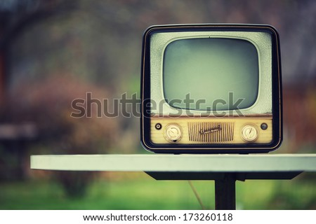 Vintage Soviet TV from 1959. 50s retro.