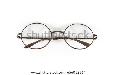 Vintage Spectacles Isolated On White Background