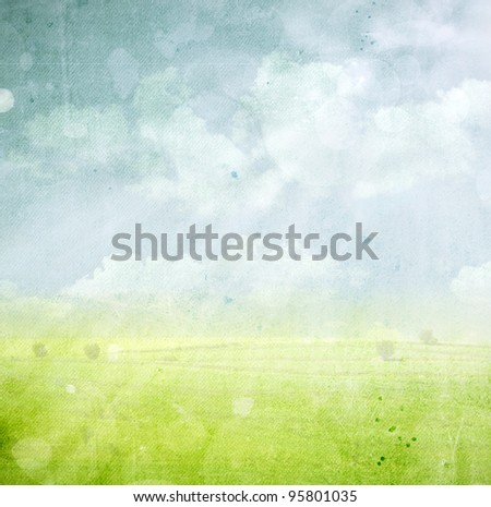Vintage spring background - stock photo