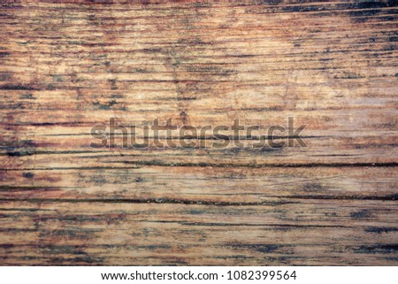 Vintage stained wooden wall background texture #1082399564
