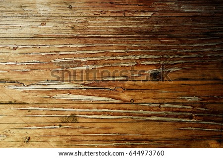 Vintage stained wooden wall background texture #644973760