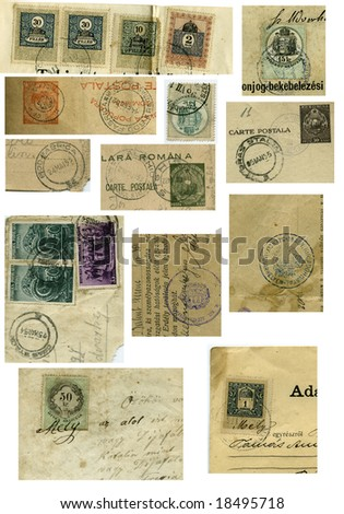 Vintage stamp collection from 20'th century