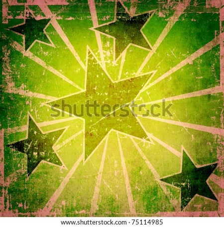 Vintage stars poster - stock photo
