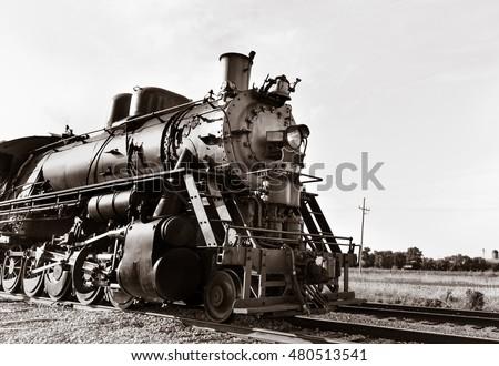 vintage steam powered railway...