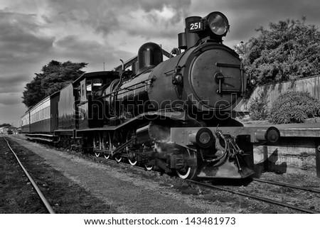 vintage steam train at...