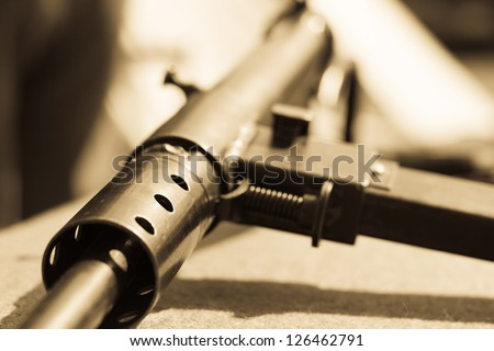 Vintage Sten Gun. (Shallow depth of field)