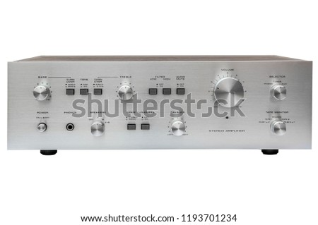 Vintage stereo amplifier