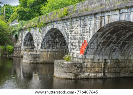 vintage stone bridge in ireland.
