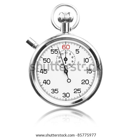 vintage stopwatch isolated on a white background