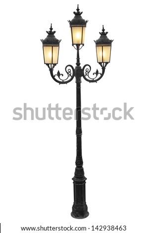 vintage street lampot