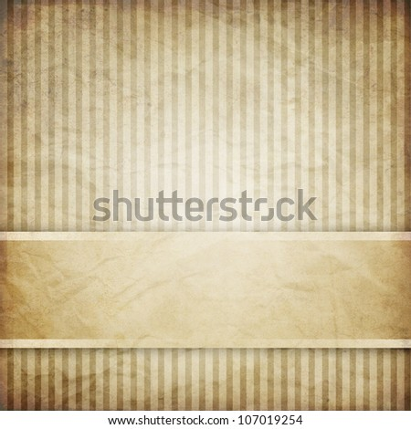 vintage striped background with banner