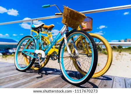 vintage style bicycles teal and ...
