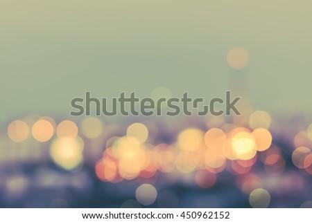 vintage style blur city...