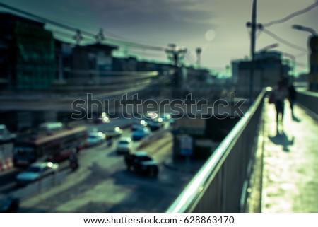 vintage style bokeh overpass