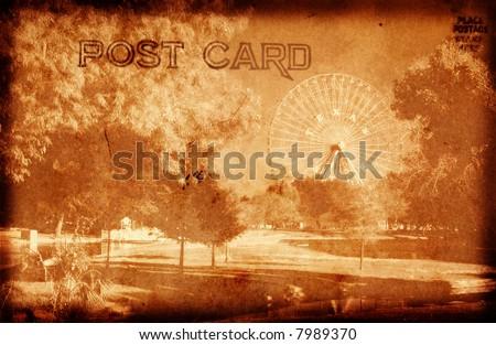 vintage style grunge postcard...