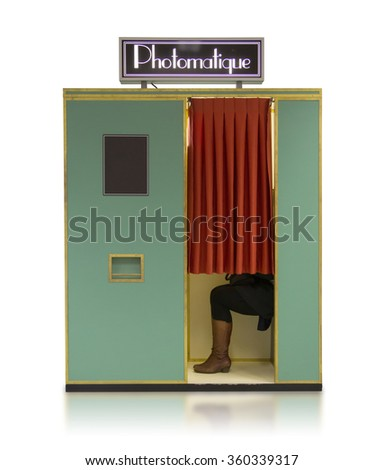 vintage style photo booth...