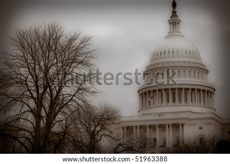 Vintage Style Photo of Capitol Building