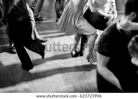 vintage style photo of dance...