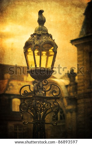vintage style picture of an antique street lamp