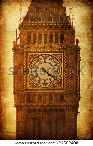 vintage style picture of the Big Ben