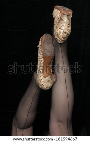 Aire seamed pantyhose style 666