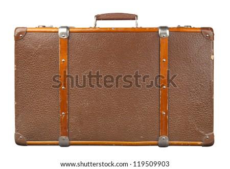 Vintage suitcase isolated. Stock photo ©