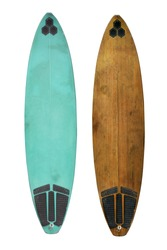 Vintage surfboard isolated on white - Retro styles