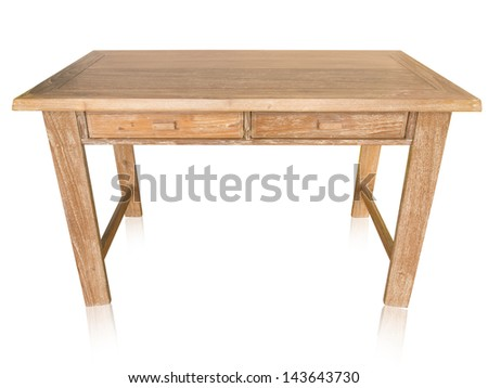 vintage table isolated on white background