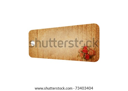 Vintage tag isolated on white background