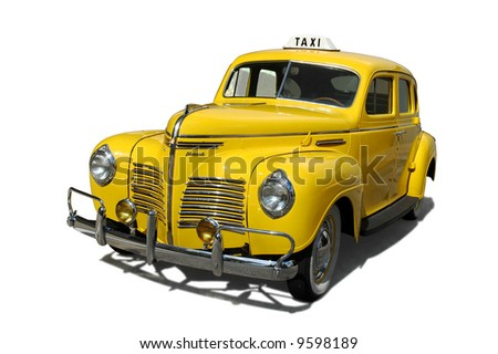 Vintage taxi cab - stock photo