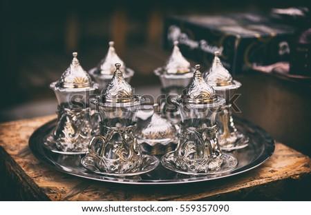 vintage tea set  oriental...