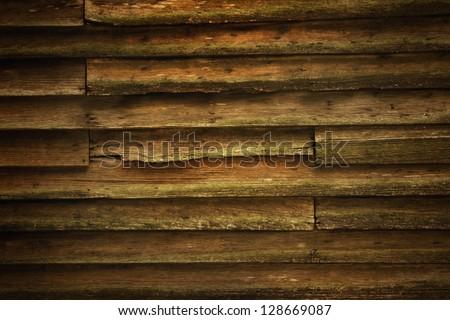 Vintage teak wood wall for background