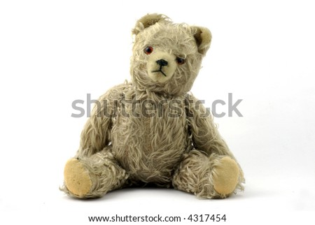 vintage teddy bear portrait