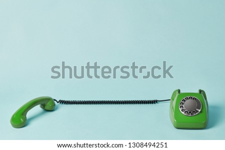 Vintage telephone and telephone receiver #1308494251