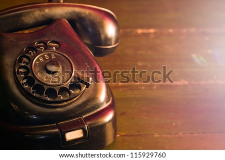 vintage telephone from the...