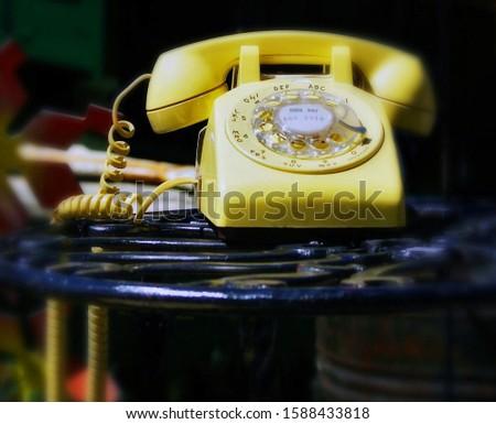 Vintage  telephone  in grandmas house
